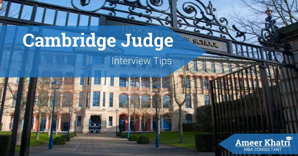 Cambridge Judge MBA Interview