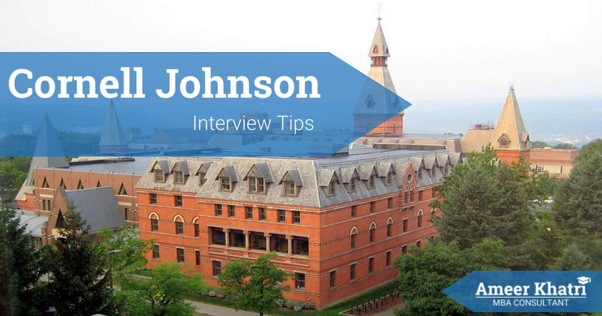Cornell Johnson MBA Interview