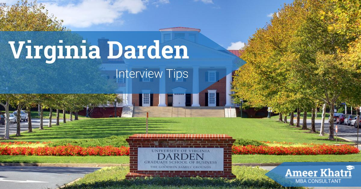 Virginia Darden MBA Interview