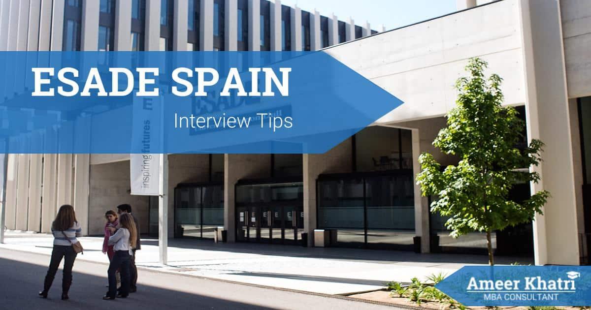 ESADE Spain MBA Interview