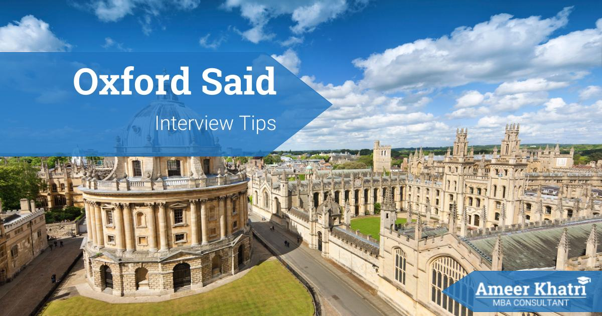 Oxford Said MBA Interview