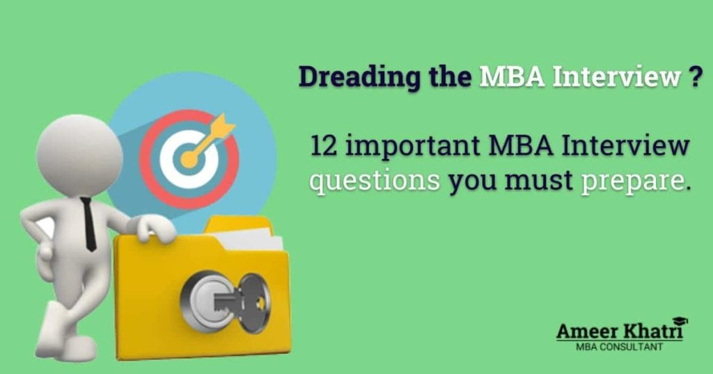 12 important MBA Interview questions