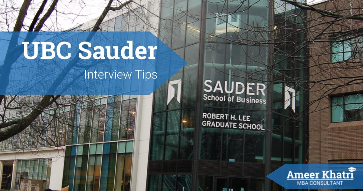 UBC Sauder Interview